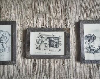Antiqued-Painted Frames (Set of 3)