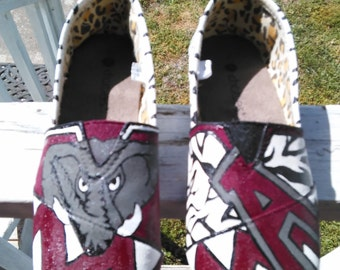 Alabama hand painted shoes