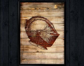 Knight Illustration, Help Poster, Medieval art decor  WP073