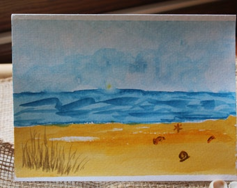 Original Watercolor - Beach
