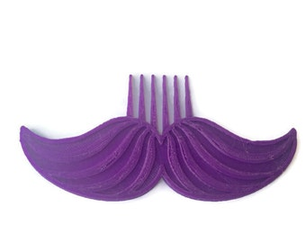 Movember Mustache Combs Picks 3D Printed