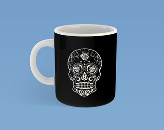 Sugar Skull Mug, Exclusive Sugar Skull, day of the dead skull