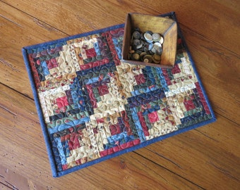 Miniature Multi-color Log Cabin Quilt