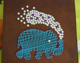 Elephant nail string art