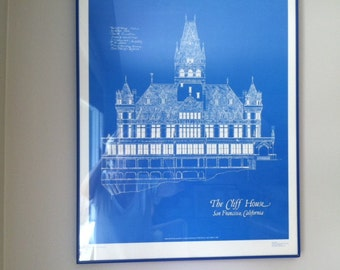 Framed poster of San Francisco's Cliff House