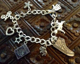 Tibetan Silver Charm Bracelet