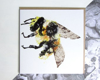 Shrill Carder Bumble Bee Card