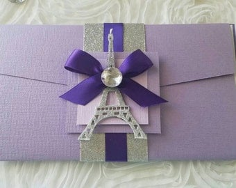 Paris Invitation..sweetsixteen, XV años, weddings 1