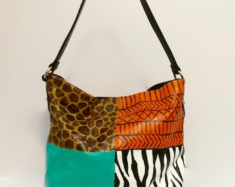 JUNGLE FEVER - Hand-painted Handbag - Art you can wear