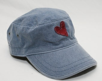 Cadet Hat with Heart Decal