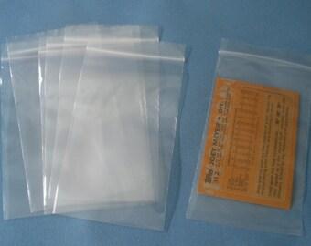 "100 3""x5"" Zip Lock Bags/ Clear Bags / Resealable  Plastic Small Baggies SU103"