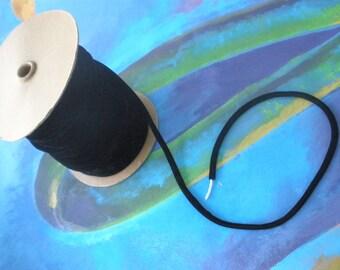 """Black Velvet Cord/ 5/16"""" Black Velvet / Velvet Necklace Cord/ 3 yards or more SU104"""