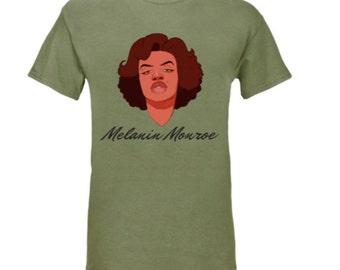 Melanin Monroe tee (Olive Green)