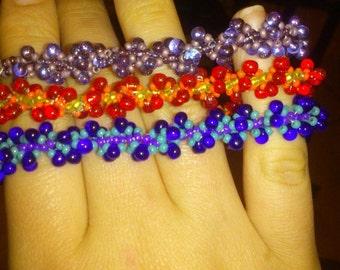 Spiral drop bracelets