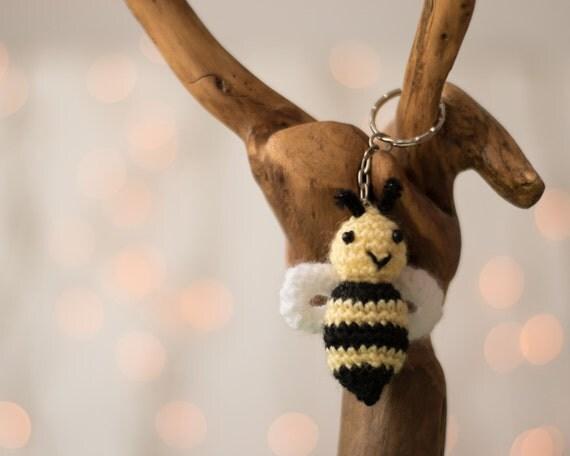 Crochet keychain Amigurumi keychain crochet amigurumi bee