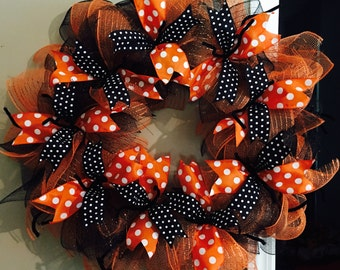 Fall Deco Mesh Wreath
