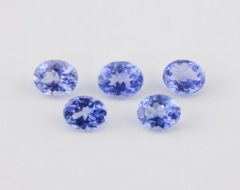 1.76 ctw, Matched Oval Cut Loose Tanzanite, 4.8mm - 5.0mm