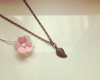 Necklace vintage, nature, leaf, tree