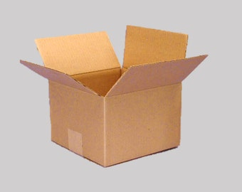 "N=3 8""x8""x4"" Cardboard Mailing Boxes - for Packing, Mailing, Shipping - Corrugated Boxes"
