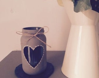 Handmade Shabby Chic/ Vintage candle Holder