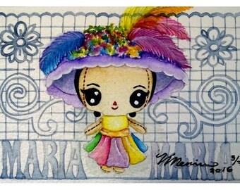 "Watercolor ""Catrina"""