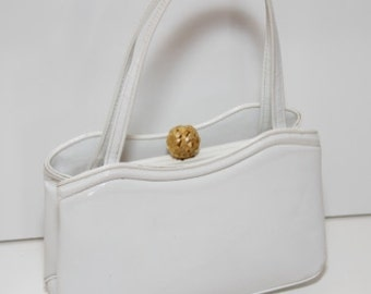 Morris Moskowitz - Vintage White Patent Leather Handbag
