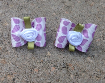 Lovely in purple. Pigtail bows