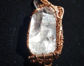 Lumerian Quartz Pendant in Copper