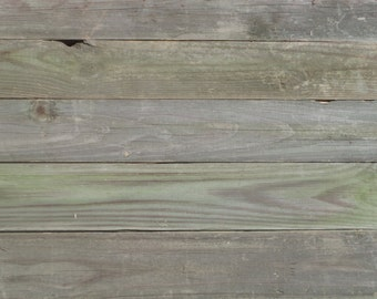 """Reclaimed Pine Fencing Slats 25 Yrs Old De-Nailed Natural Patina 5 Boards @ 36""""L"""