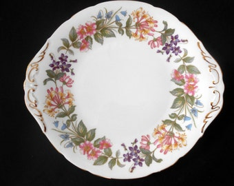 SALE 20% OFF Paragon, 'Country Lane' Pattern, Fine Bone China, Cake Plate