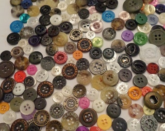 275 Vintage Name Brand Buttons Buttons Scrap Booking Buttons Variety of Button Bulk Buttons