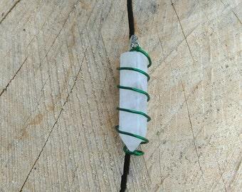 Mini Clear Quartz Wire Wrapped Pendant