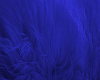 Shaggy Faux Fur / Royal Blue Fabric by the yard (Z2)