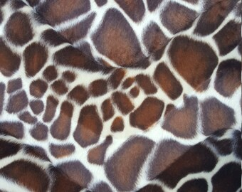 Velboa S-Wave Fabric Prints By The Yard -  Giraffe Brown (W2)