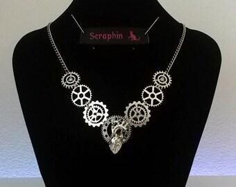 Steampunk metal heart