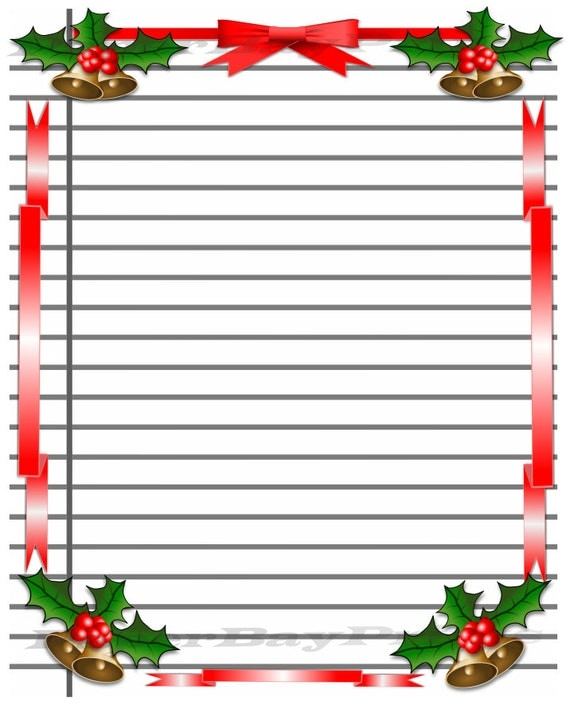 christmas writing paper with lines Note pads with lines narrow by buttercup paper but all of them have optional writing lines which can be requested on the order form.