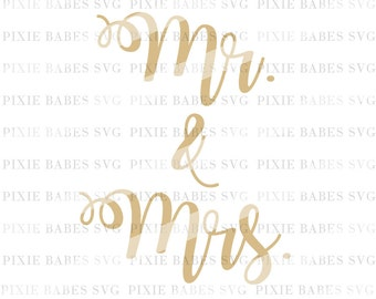 Mr. & Mrs. SVG, Hubby Wifey SVG, Wifey svg, Wedding SVG, Honeymoon svg, Cricut svg, Silhouette svg, Cutting File, svg files
