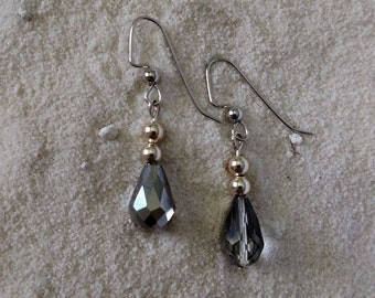 Silver Faceted Glass