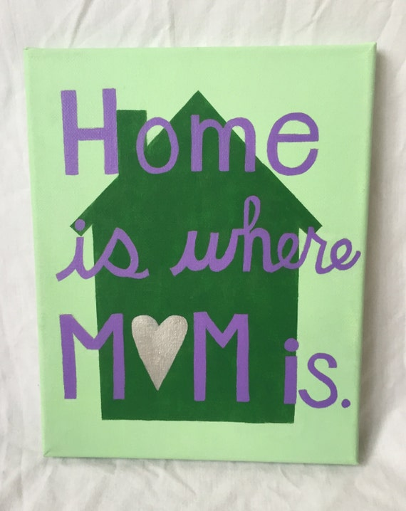 Home Is Where Mom Is Canvas