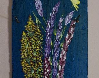 Flowers on Painted Slate