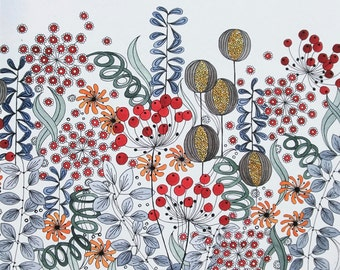 Busy Garden - Signed, limited edition print