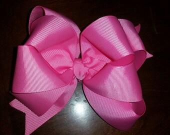 Bubblegum Pink Boutique Double Hairbow