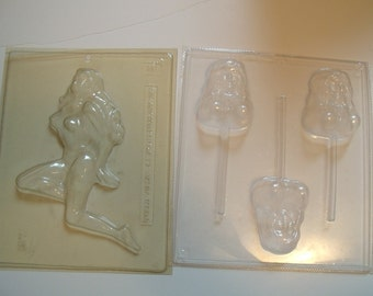 Naughty Candy, Lollipop Molds Two Apollo #361 Ladies
