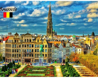 Good to know Fridge Magnet BRUSSELS BELGIUM Photo Educational Vinyl FREE Shipping