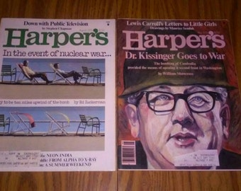Bundle Lot Of Harper's  1979 Publications - Back Issues Lots Of Old Paper  Advertising Ad's