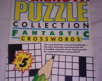 Vintage Mammoth Puzzle Collection 394 Fantastic Crossword Puzzles Baronet Books 1979 Cross Word Puzzle  NOS Paperback Book