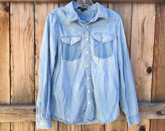 Jean Button Up