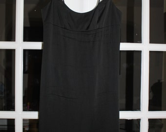 OPENING SALE Vtg Nicole Miller Black Dress with Beaded Straps size 4