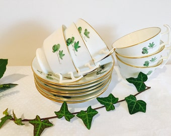 6 tea cups and saucers. 1930's vintage.