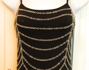 Tank Top Cover, Chainmaille, Silver